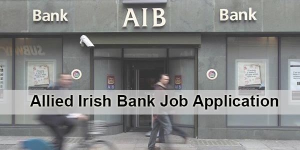 Allied Irish Bank Job Application