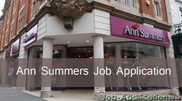 ann summers job application