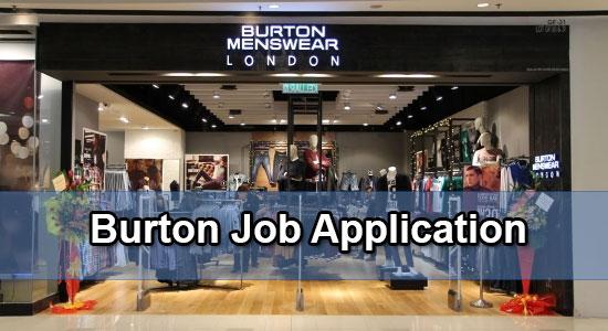 Burton job application
