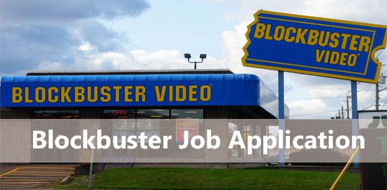 blockbuster job application