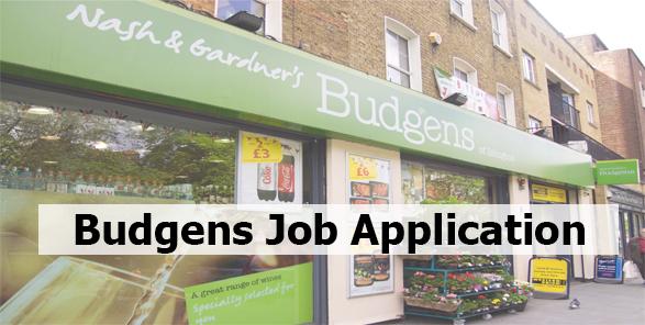 Budgens Job Application