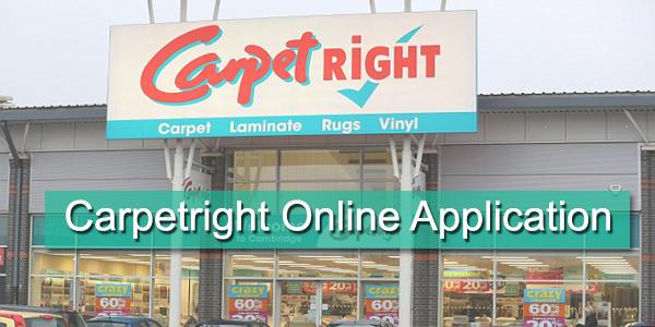 Carpetright Job Application Form