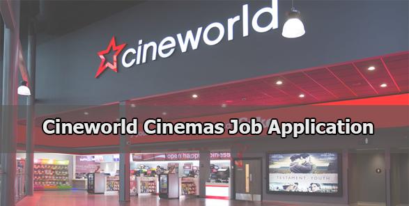 Cineworld Cinemas Job Application