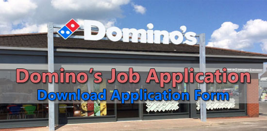 Dominos Job Application Form 2018 Job Application Center