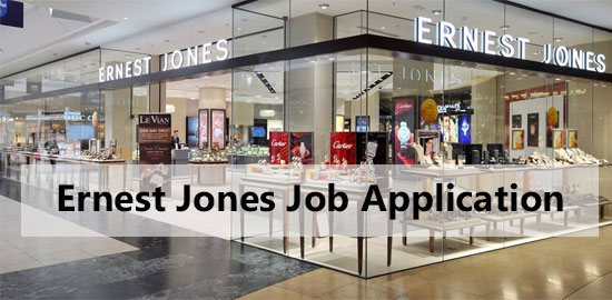 ernest jones job application