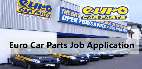 euro car parts job application
