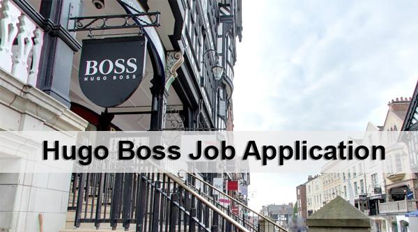 Hugo Boss Job Application