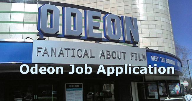 odeon job application