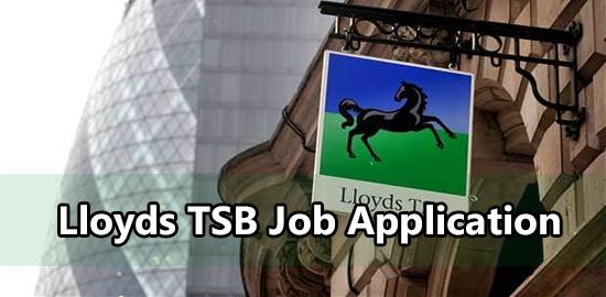 lloyds tsb job application