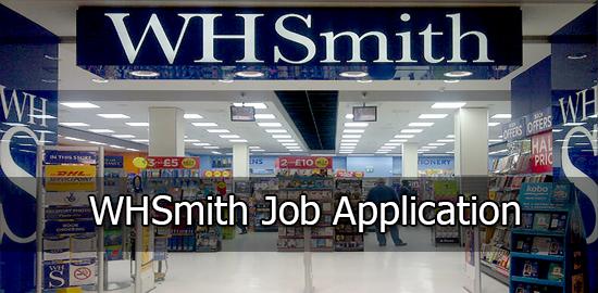 WHSmith Job Application