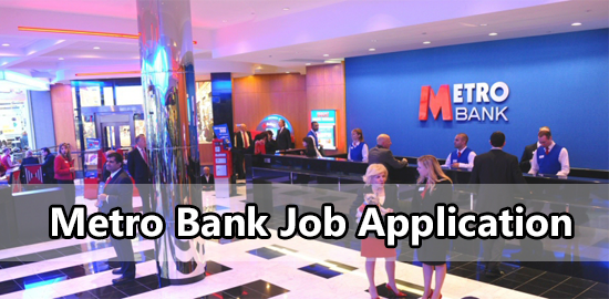 Metro Bank Job Application