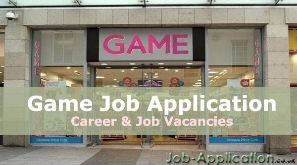 Game job application
