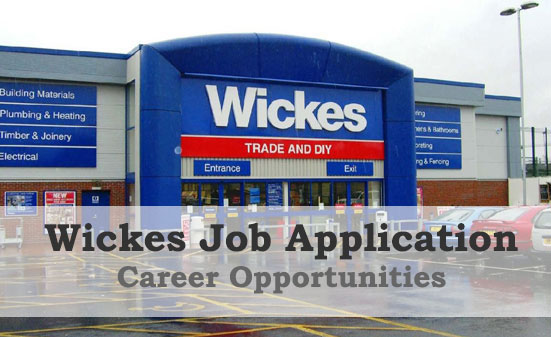 Wickes job application