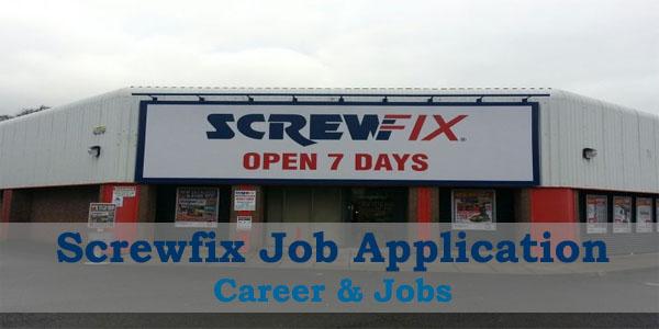 screwfix job application