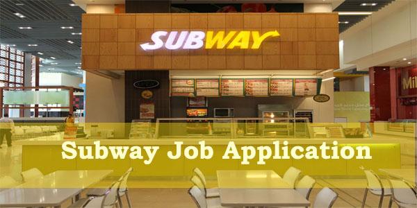 Subway Job Application Form 2018 Job Application Center
