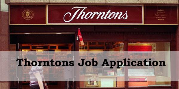 thorntons job application