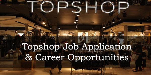 topshop job application