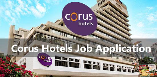 corus hotels job application