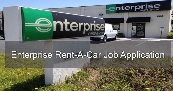 enterprise rent a car application