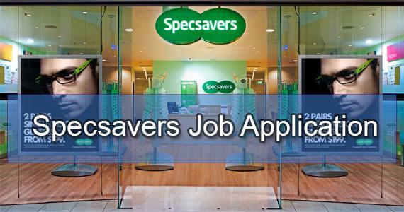 specsavers job application