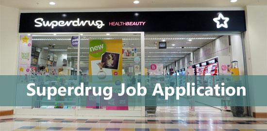 superdrug job application