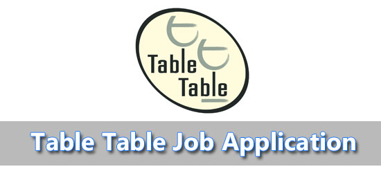 table table job application