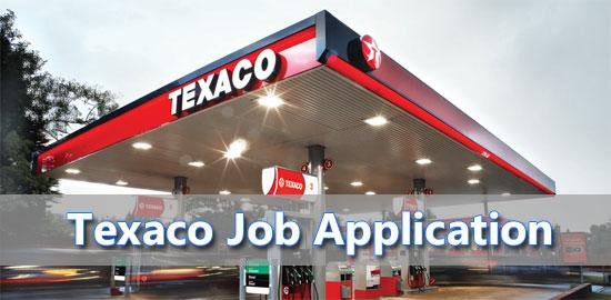 texaco job application