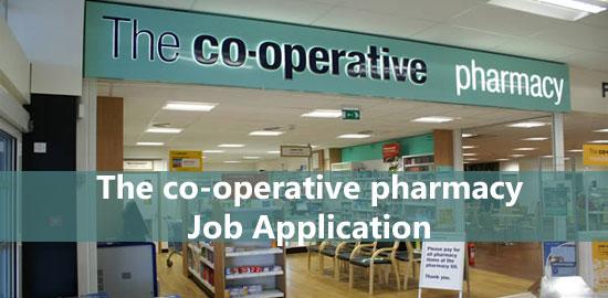 the co operative pharmacy job application