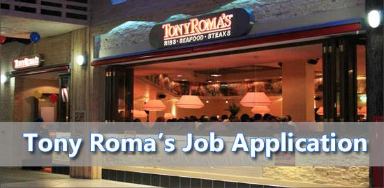 Tony Roma's Job Application