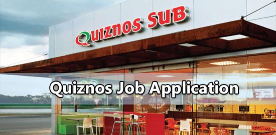 quiznos job application