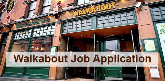 Walkabout Job Application