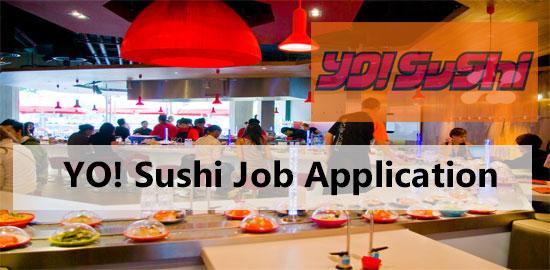 Yo Sushi job application