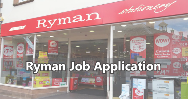 Ryman Job Application Form 2018 Job Application Center