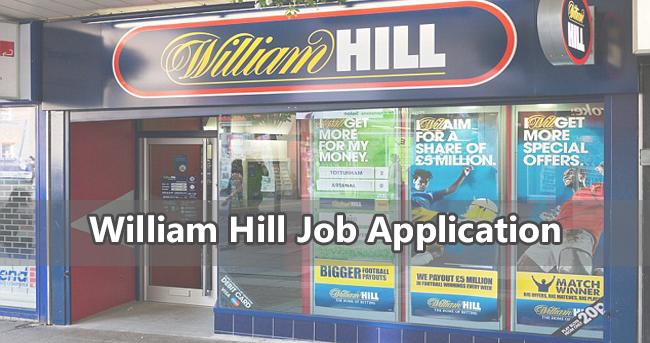 William Hill Job Application