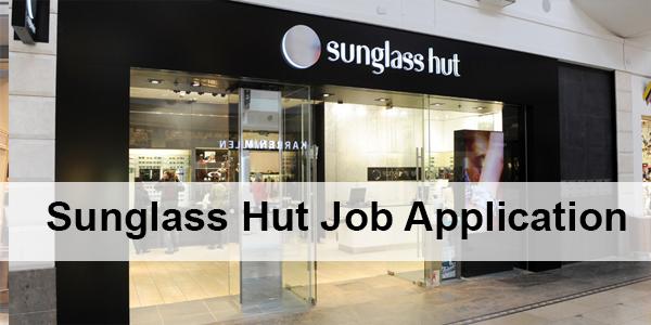 Sunglass Hut Job Application