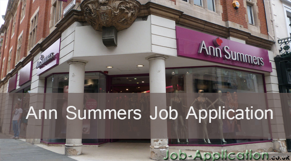 ann summers job application