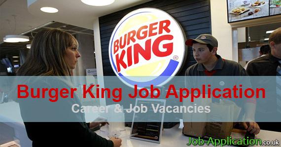 Burger King Job Application Form 2020