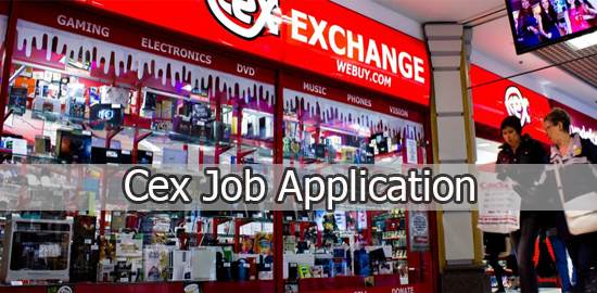 CeX Job Application Form 2020