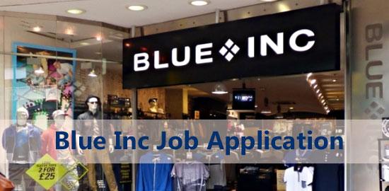 Blue Inc Job Application Form 2021