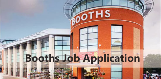 Booths Job Application Form 2020
