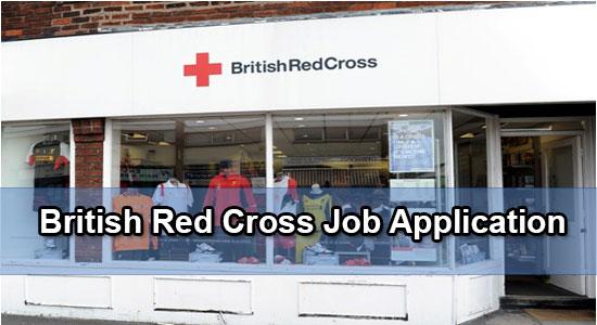 british red cross job application