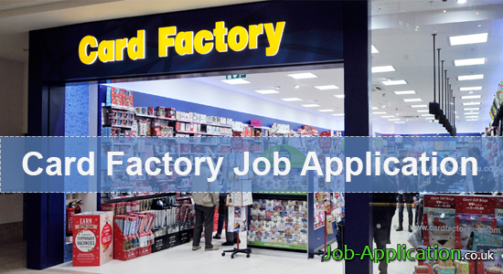 card factory job application