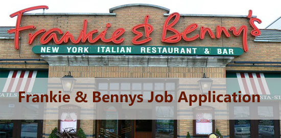 Frankie & Benny's Job Application Form 2021