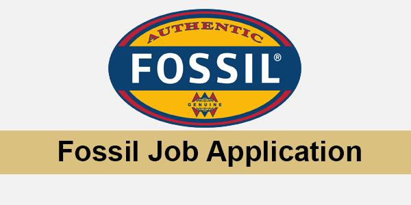 Fossil Job Application