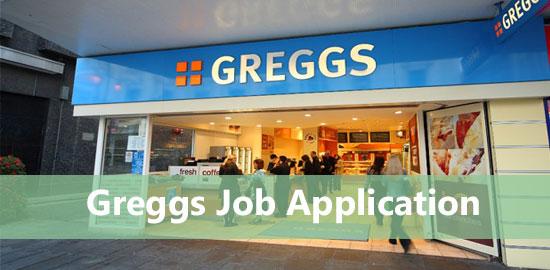 greggs job application