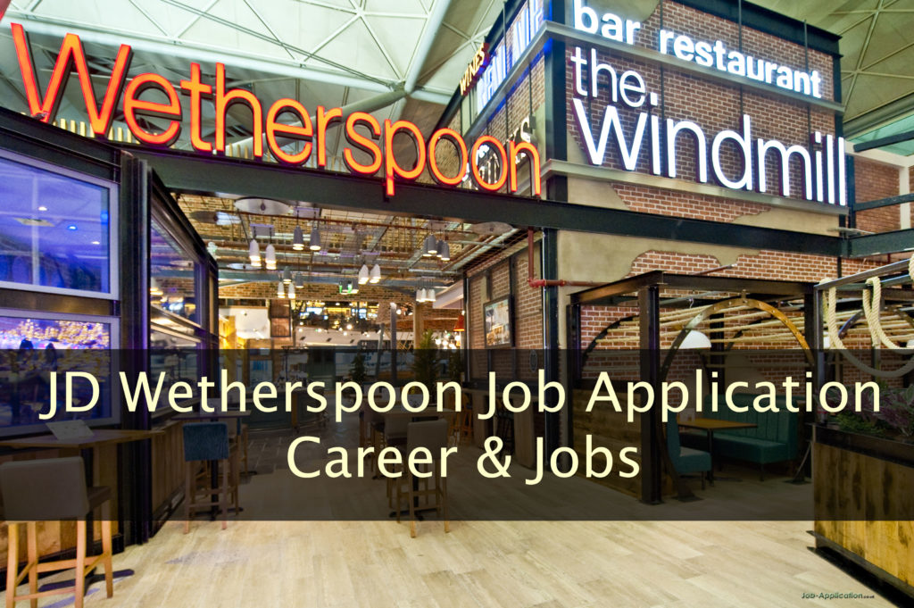 JD Wetherspoon Job application