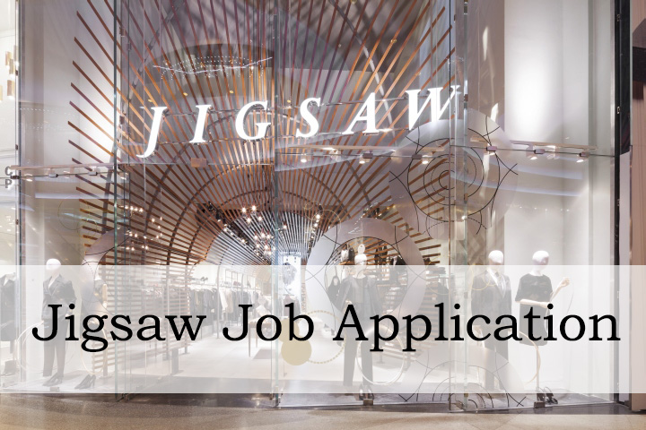 Jigsaw Job Application Form 2020