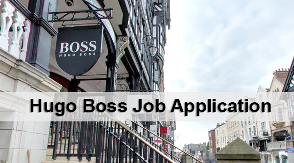 Hugo Boss Job Application