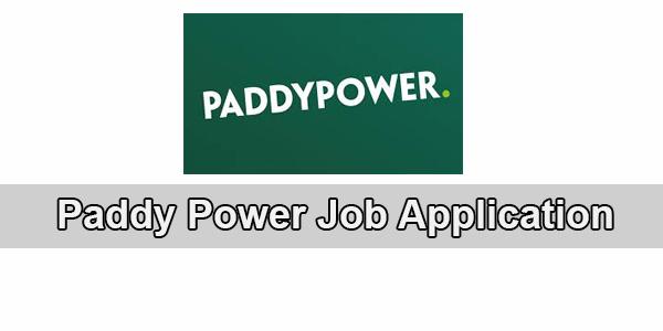 paddy power job application