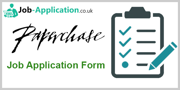 Paperchase Job Application Form 2020